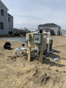 Pool wiring for pump, heater, salt system, and lights